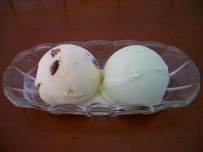 葡萄酒とワサビのアイスクリーム