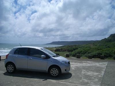 風吹砂海岸とトヨタヤリス